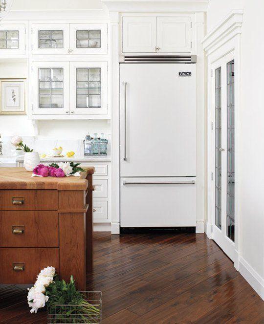 Kitchen; white appliance; refrigerator | Photographer: Donna Griffith