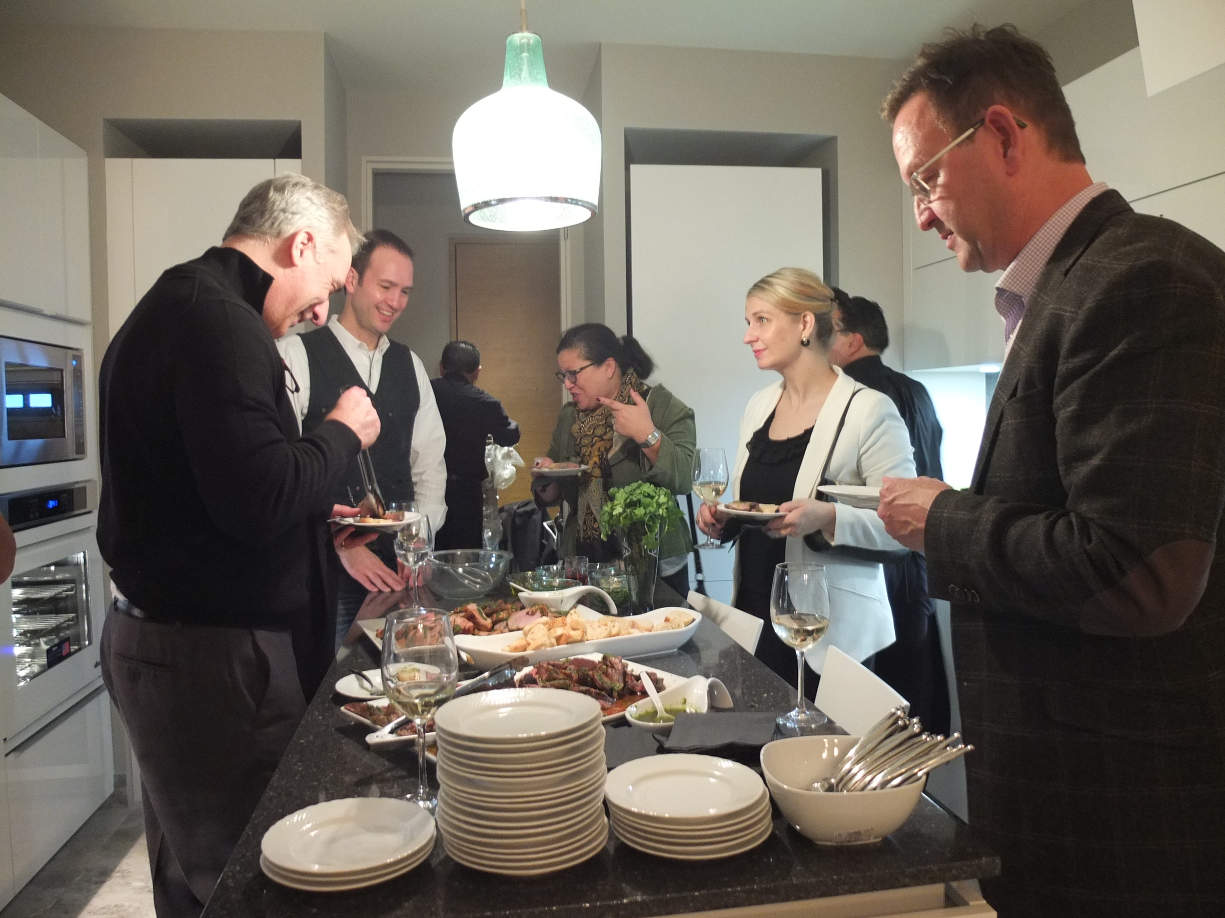 Best of #KBIS2015 | Photo taken during the Kitchen and Bath Industry Show (KBIS) penthouse party | Carla Aston reporting from Modenus' #BlogTourVegas