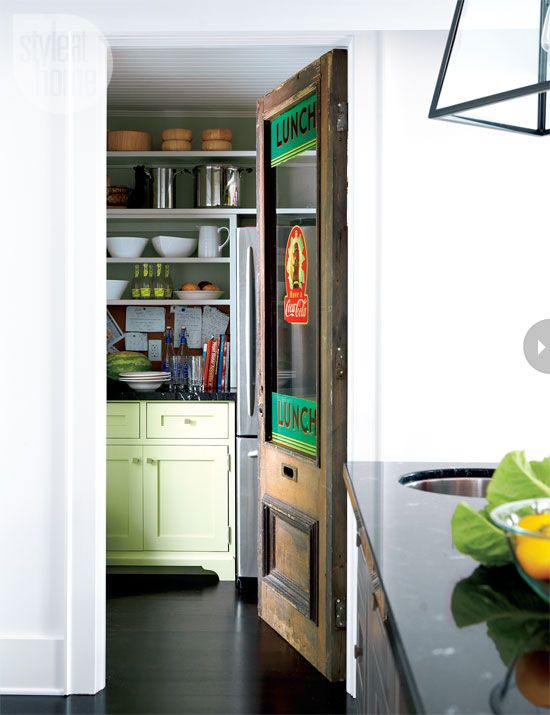 Great pantry door in the kitchen | Image source:  mixandchic.com / Interior designer: Ingrid Oomen