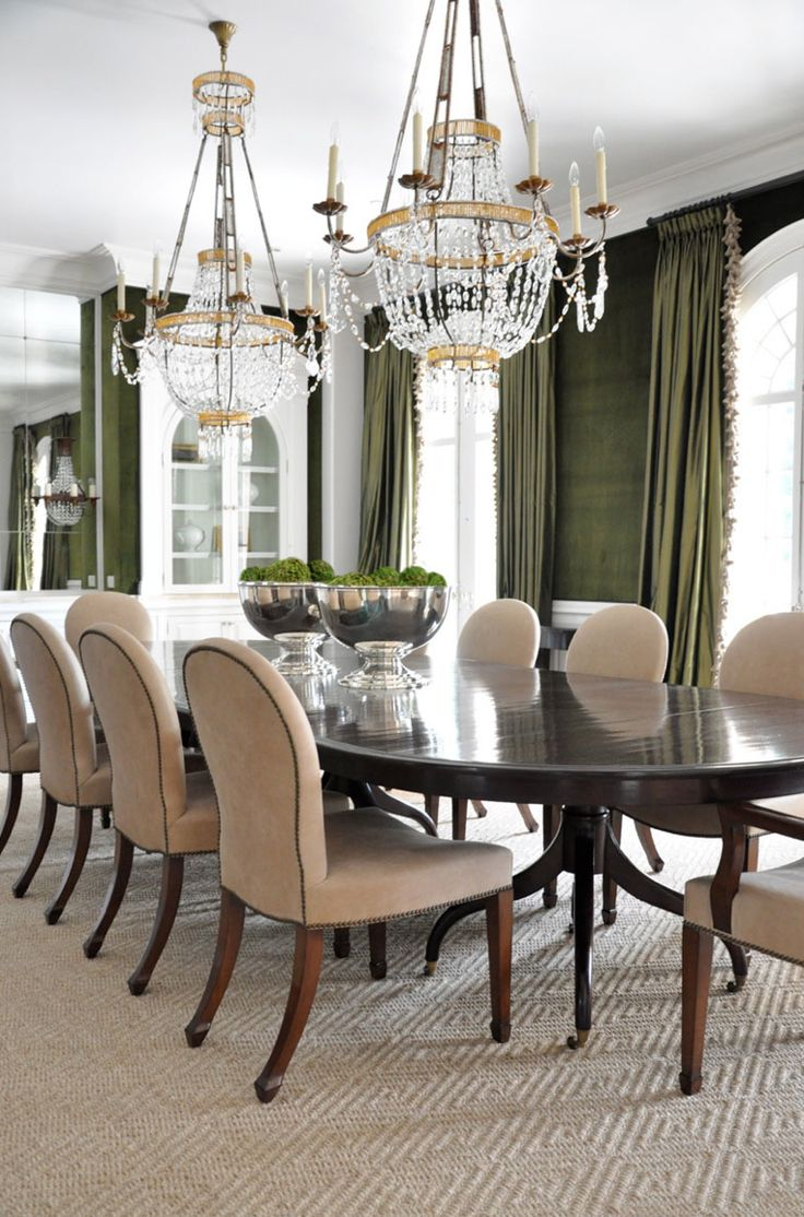 dining room table, chair, lighting, curtains|Image source:  decorating files