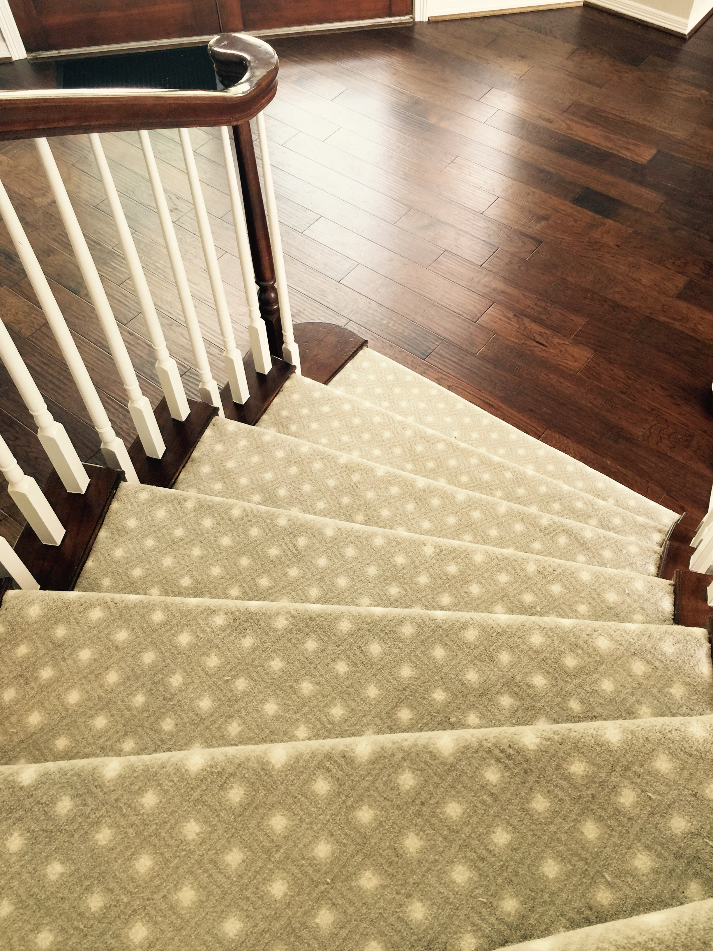 after | stairs & wood floor
