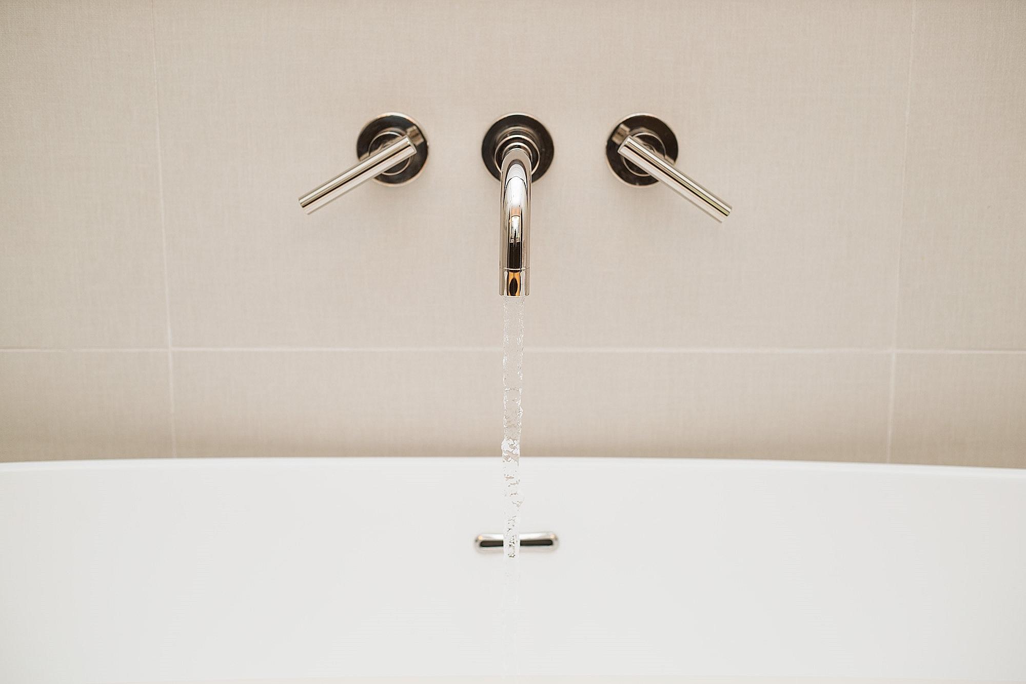Master bathroom remodel with modern wall mount tub filler | Interior Designer: Carla Aston / Photographer: Tori Aston #bathroomideas #bathroomremodel #tubfiller