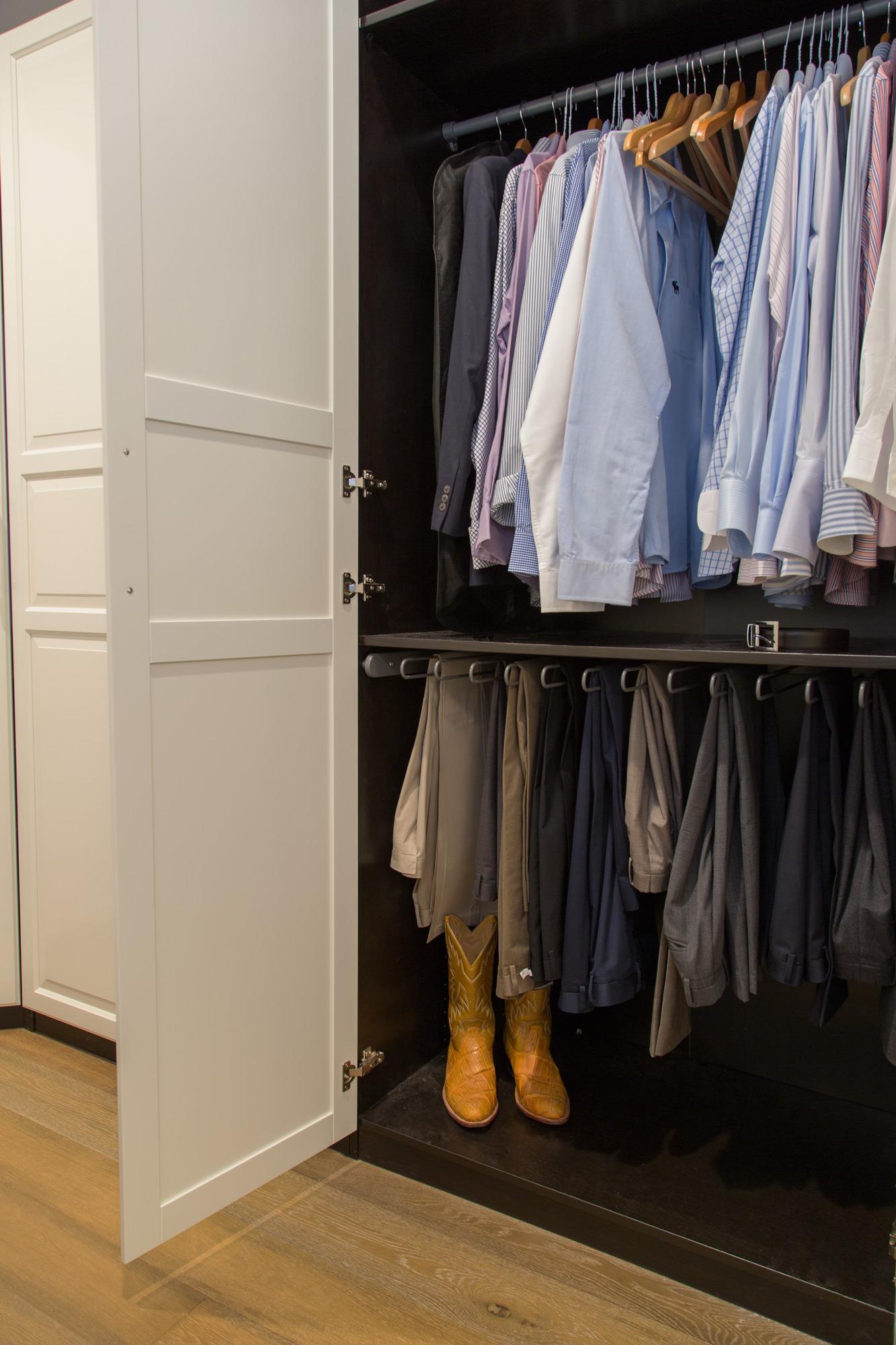Master bathroom & closet remodel; | Interior Designer: Carla Aston / Photographer: Tori Aston #customcloset #ikeacloset #closetcabinet