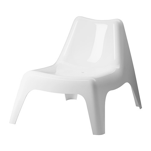 IKEA PS VÅGÖ - Armless chair, outdoor, white | Image source: IKEA