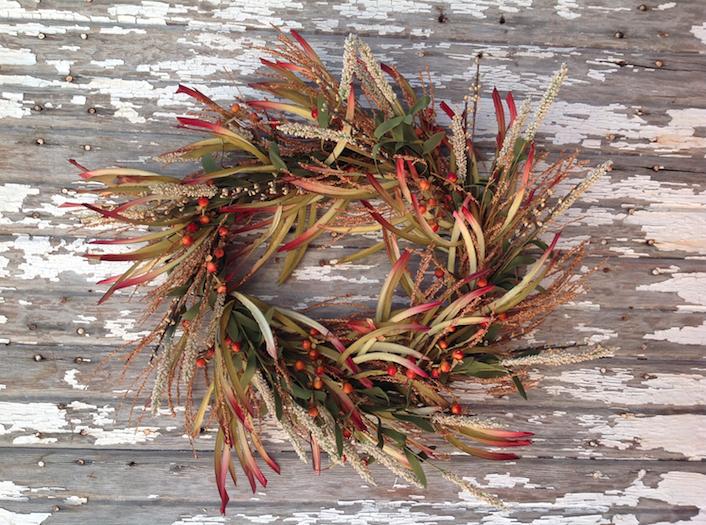 Fall door wreath   Image source: Wayfair
