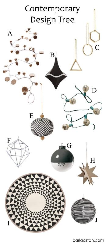 10 Must-Have Contemporary Christmas Tree Decorations!