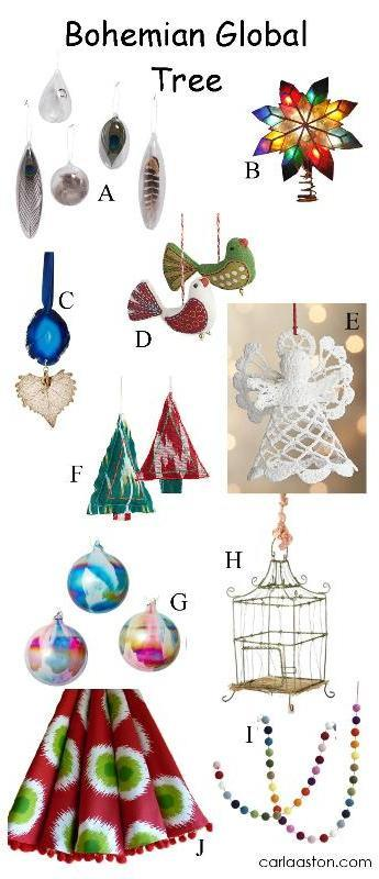 10 Must-Have Bohemian Christmas Tree Decorations!
