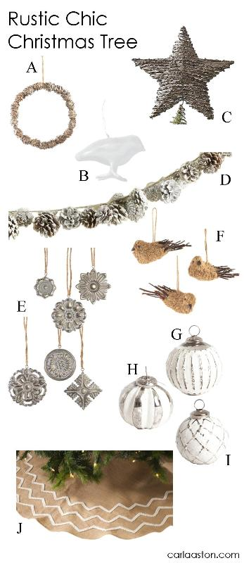 10 Must-Have Rustic Christmas Tree Decorations!