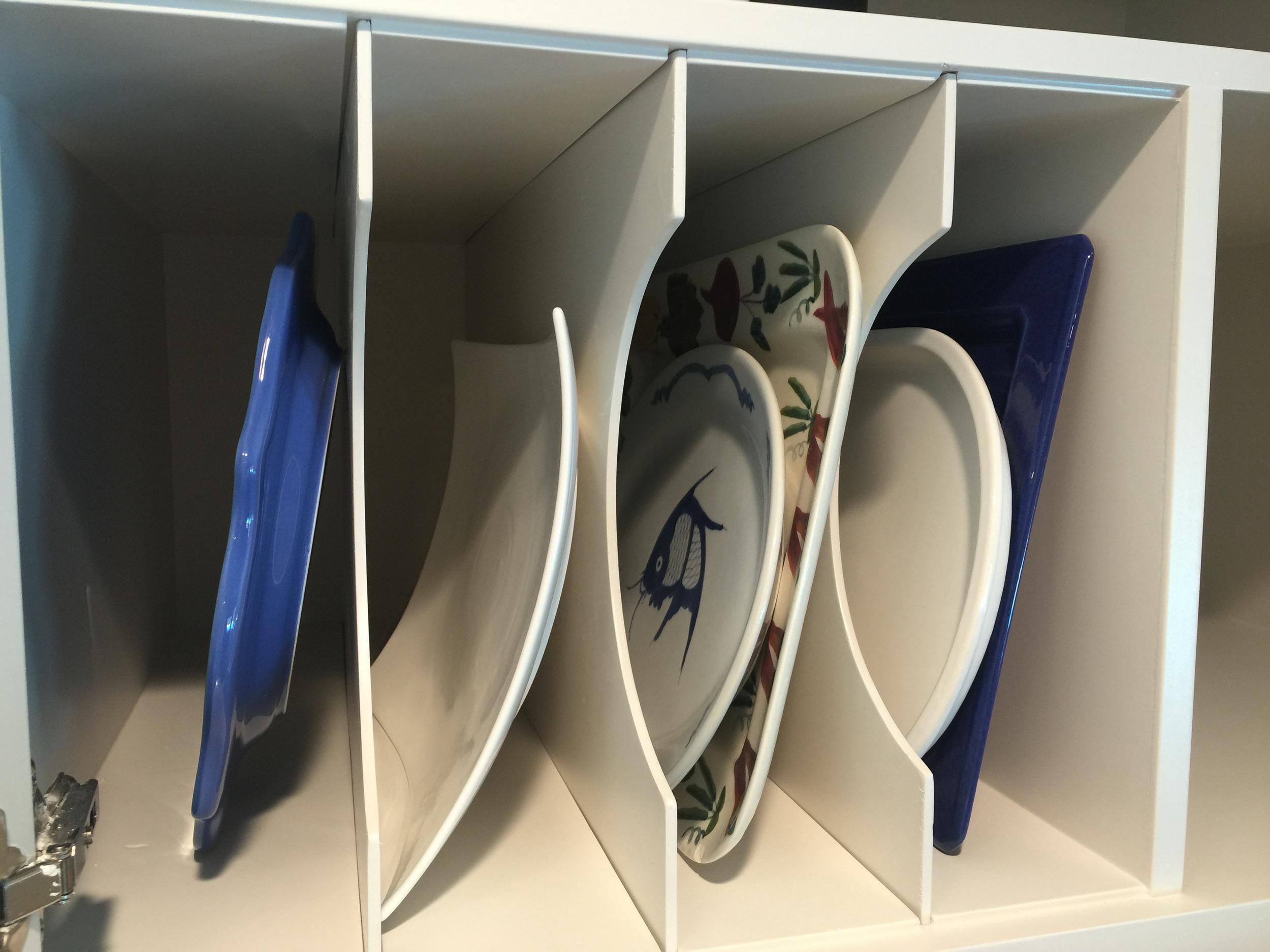 Vertical Divided Storage | Interior Designer: Carla Aston