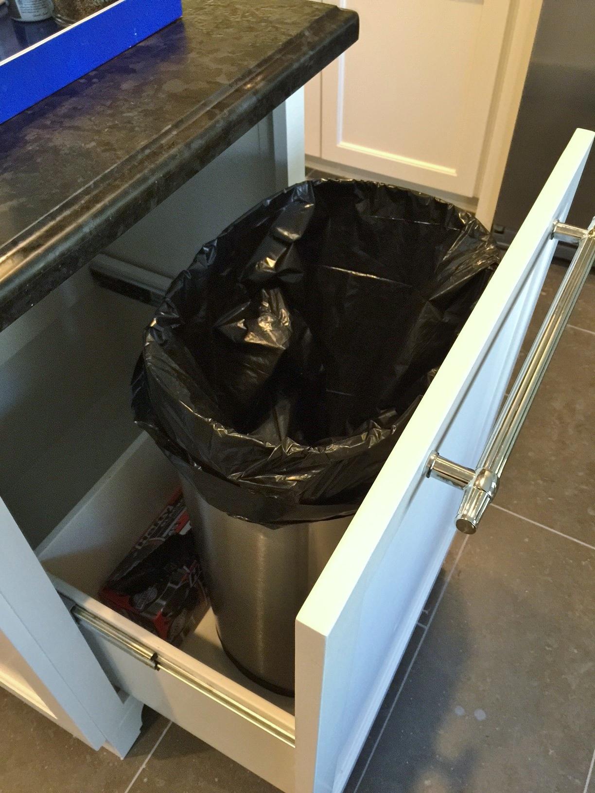 Trash drawer | Interior Designer: Carla Aston