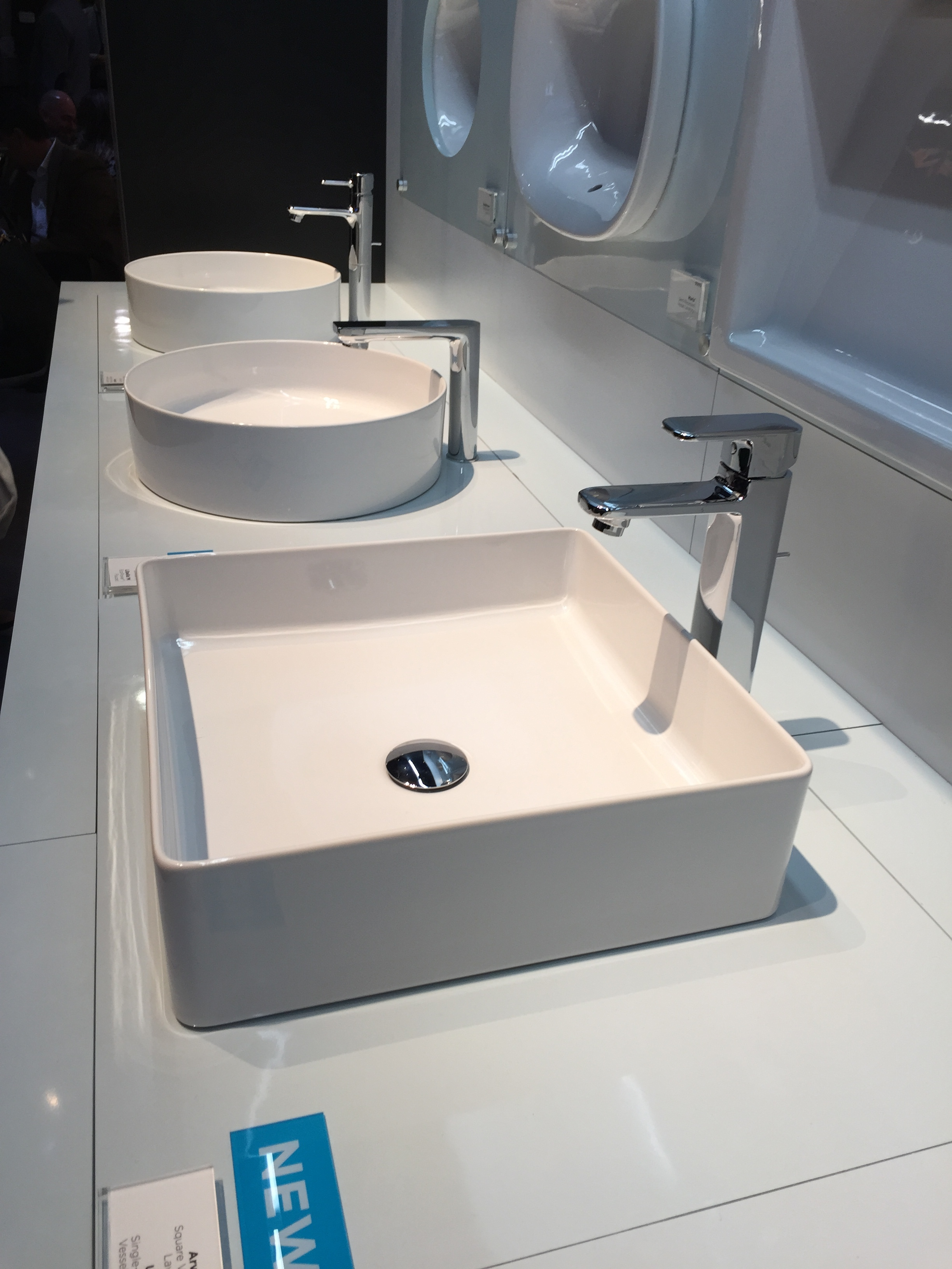 Chubby white vessel sinks from    Toto   . So on trend. | KBIS2016