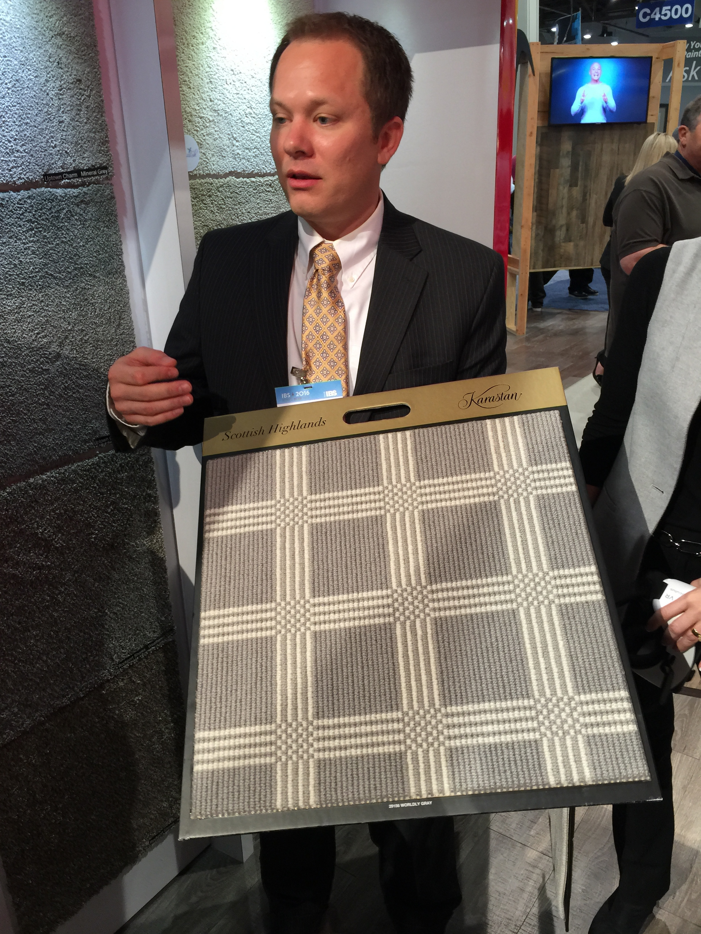 Great new patterns in carpeting perfect for creating less expensive area rugs. Via    Mohawk   . | KBIS2016