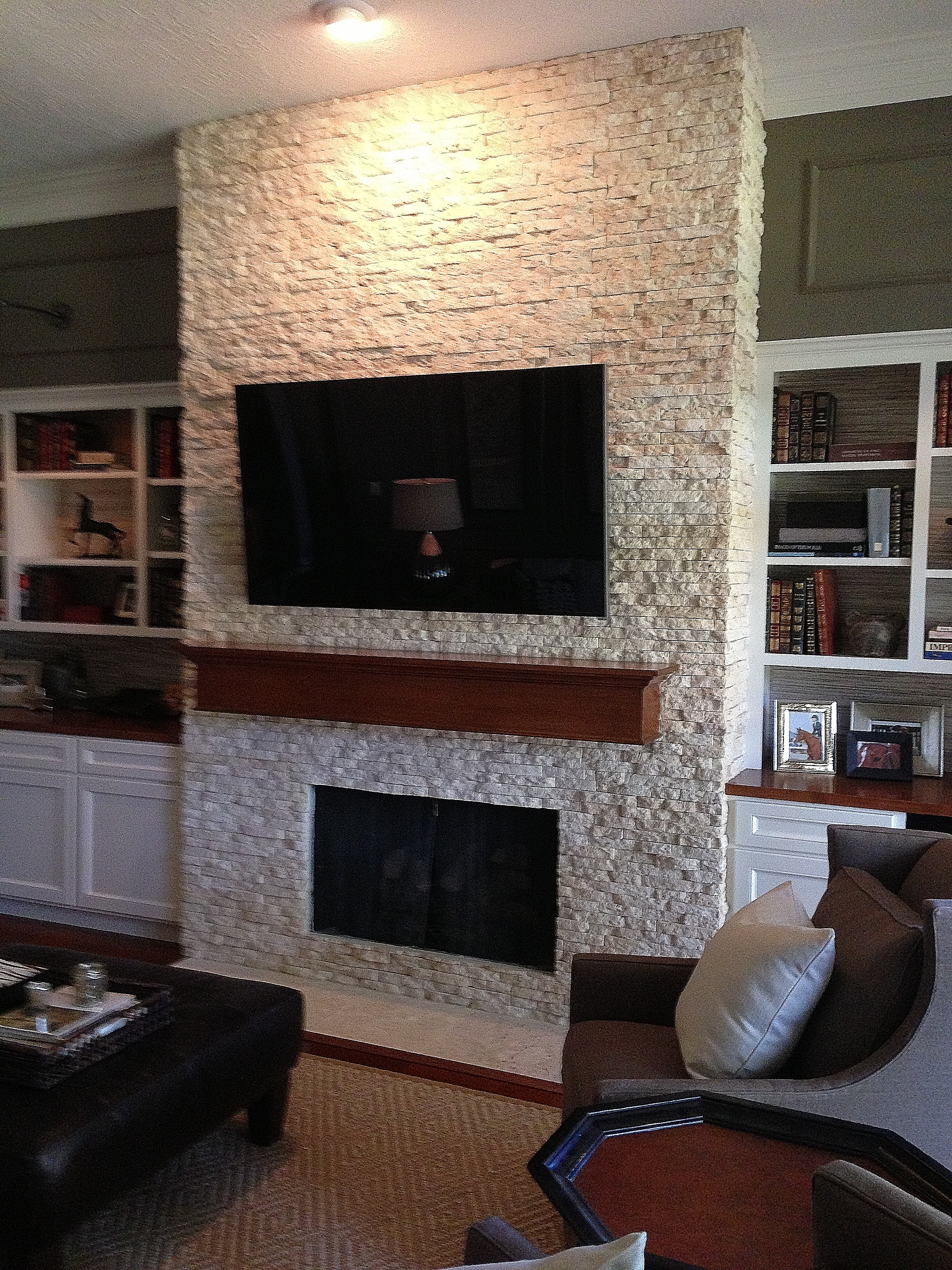 Your Fireplace Wall S Finish Consider This Important Detail