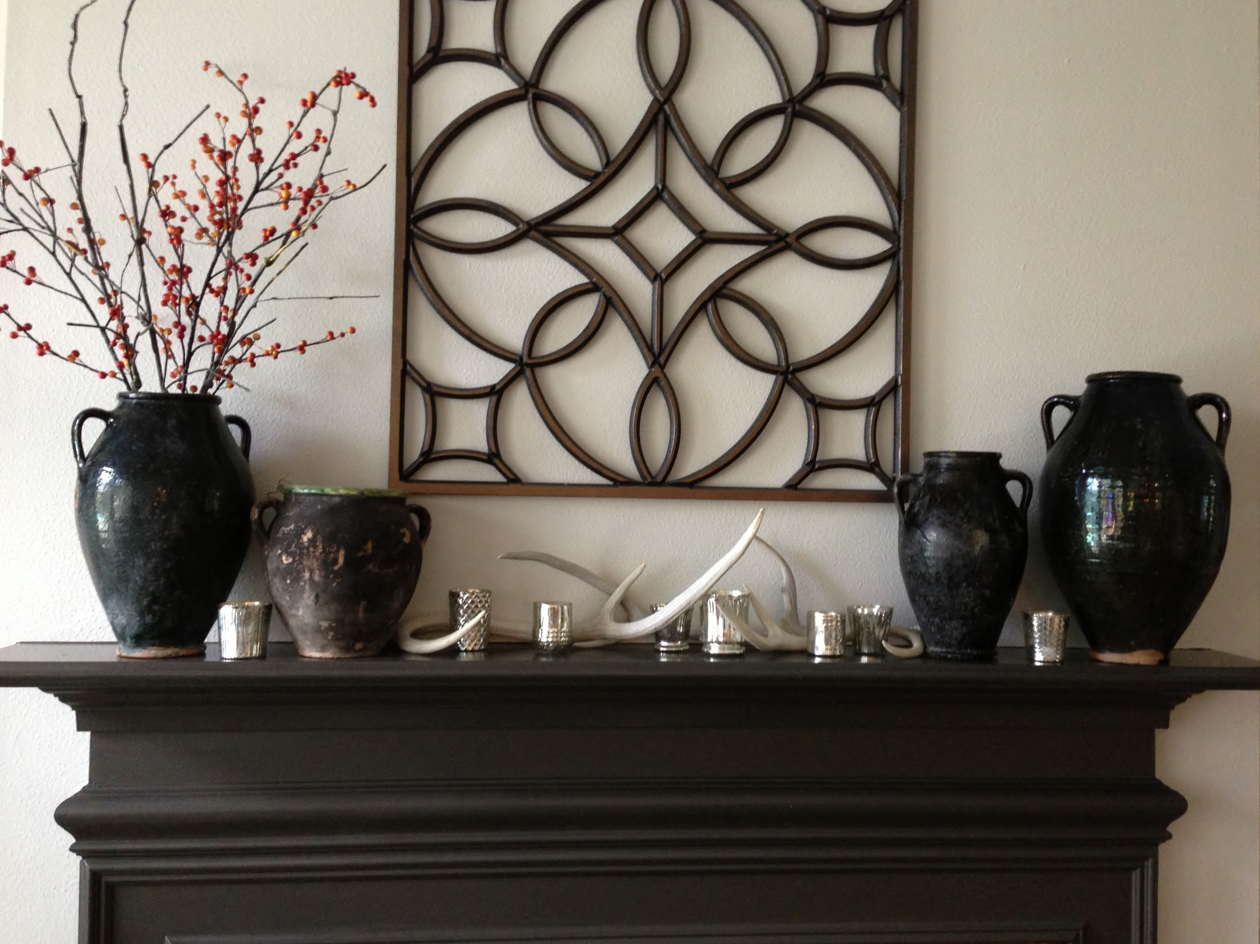 Mantel - Before with grillwork