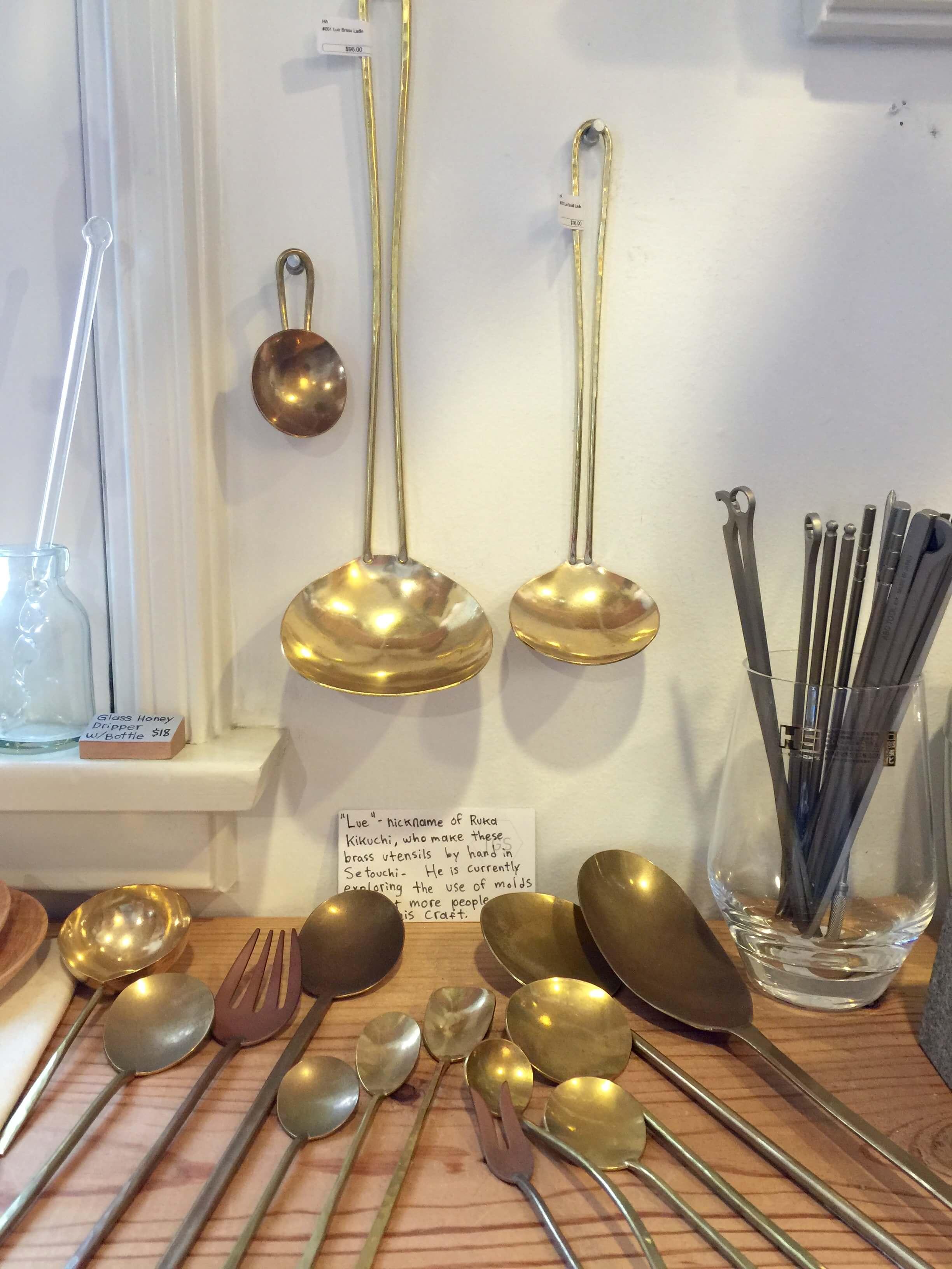 Handmade utensils from Tortoise General Store