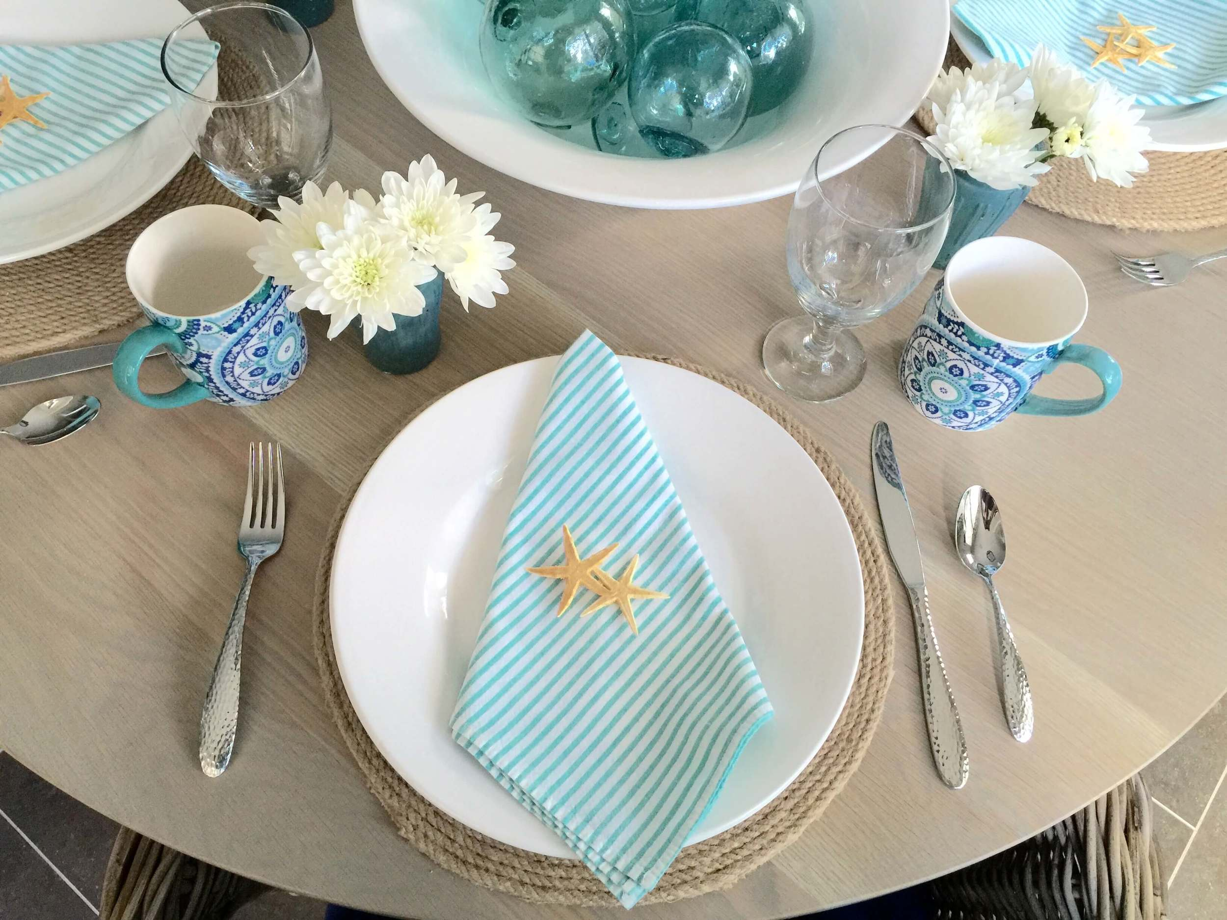 Coastal tabletop | Interior Designer: Carla Aston