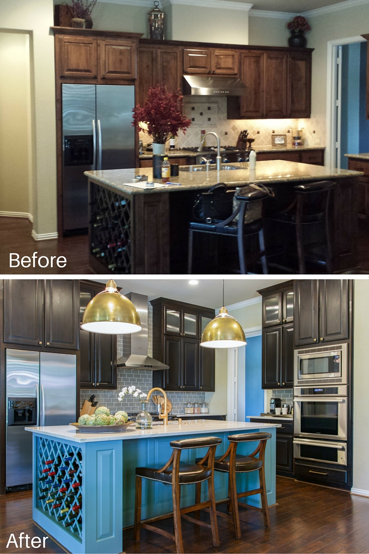 BEFORE & AFTER: This Living Room & Kitchen Remodel Shows How 'Transitional Style' Can Feel Warm & Personal