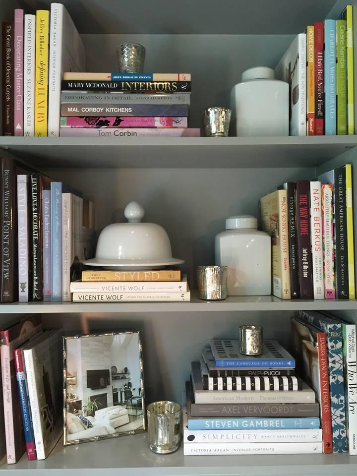 Holiday Showhouse bookcase close up   Bookshelf Styling Tips