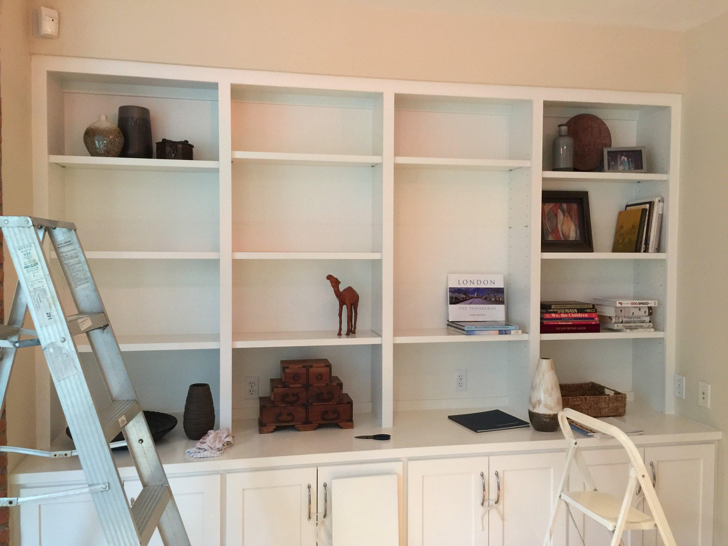 Bookshelf styling, in process