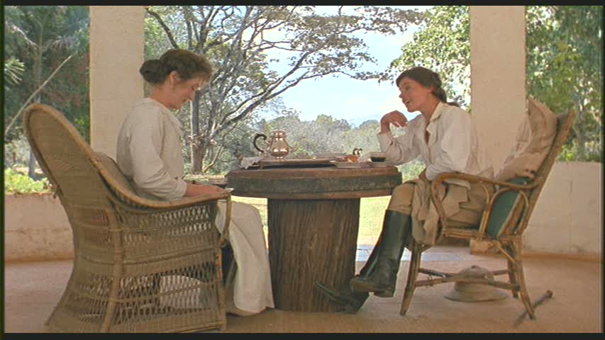 """Karen and Beryl Markham in """"Out of Africa"""""""