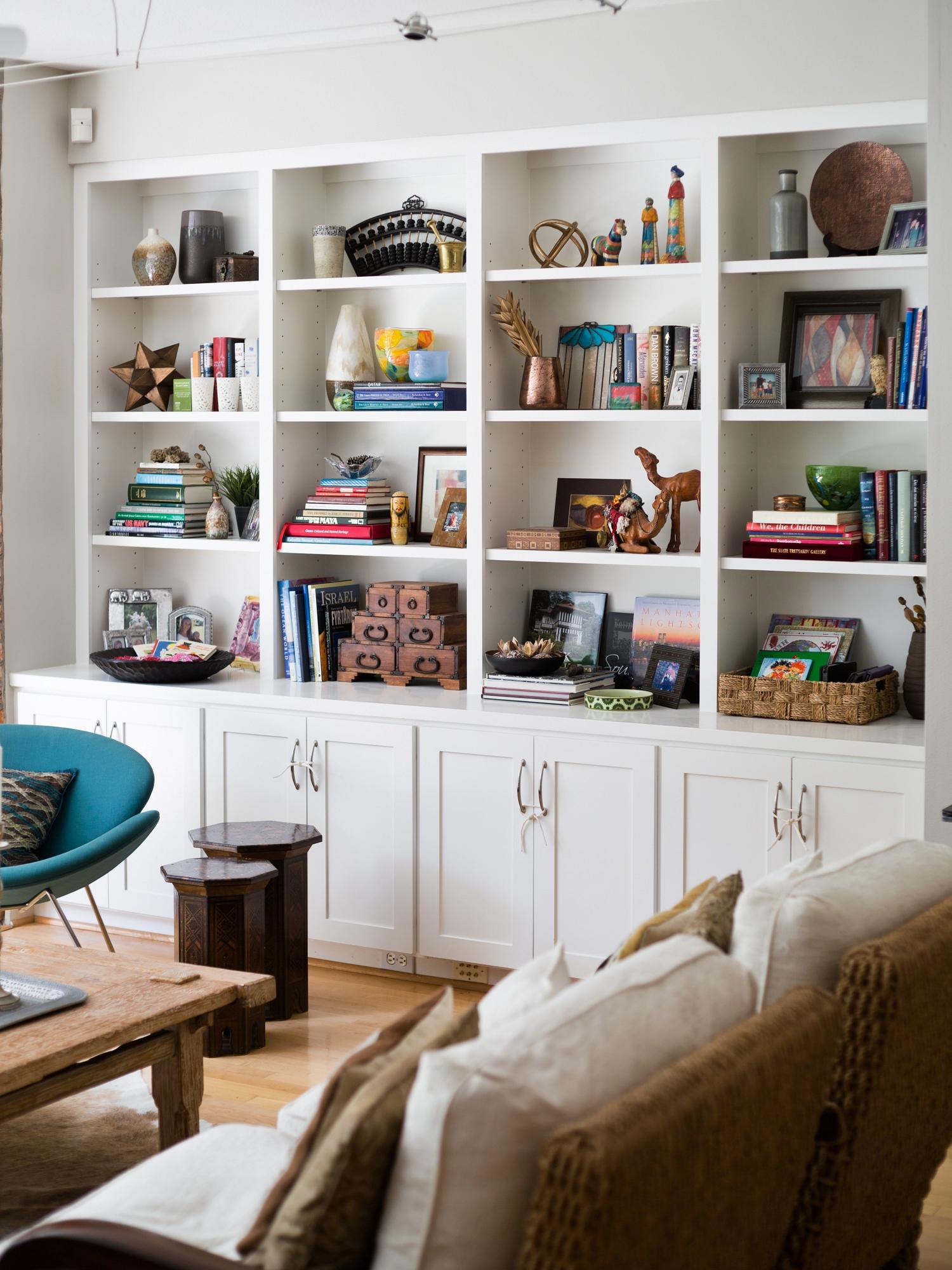 Bookshelf Styling - Carla Aston, Designer / Tori Aston, Photographer