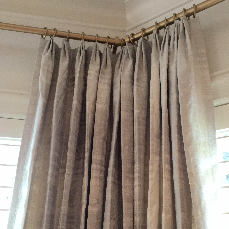 Bay window window treatment with angled corners | Carla Aston, Designer | #windowtreatment #baywindow