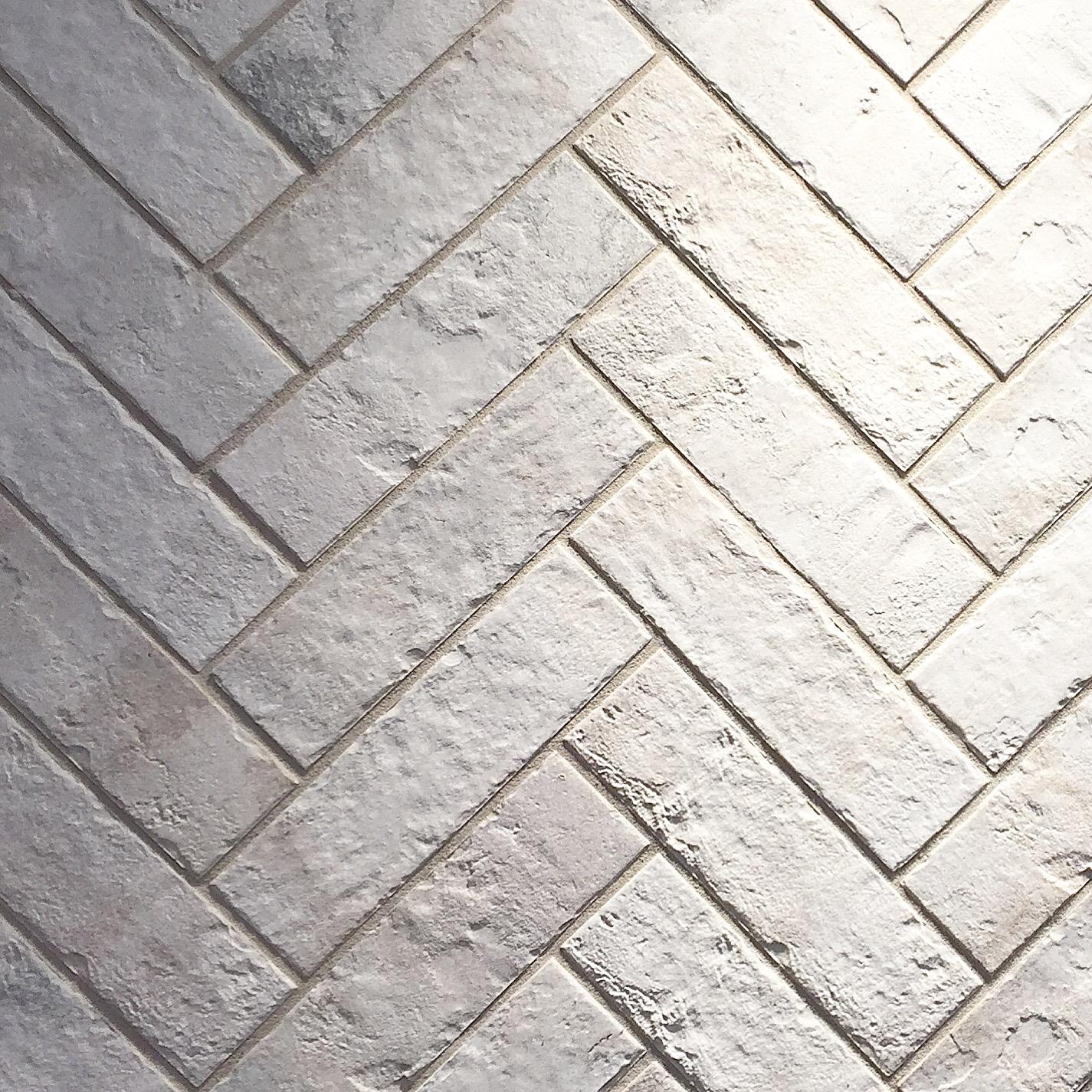 "Daltile ""Brickworks"" - Porcelain tile that looks like whitewashed brick"