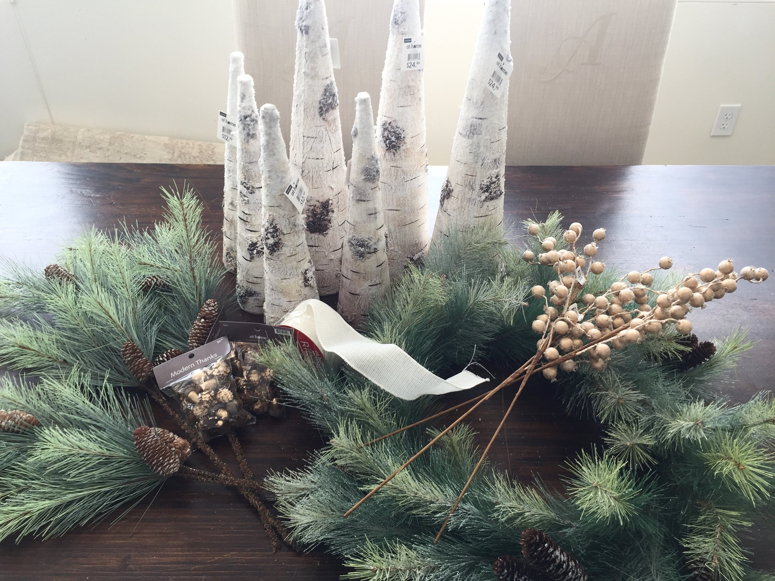 Christmas Decor purchases from At Home Stores #christmasdecorating #christmasdecor