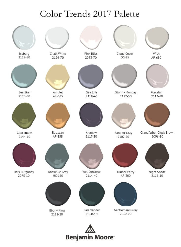 Benjamin Moore - Paint Color Palette for Color of the Year, 2017