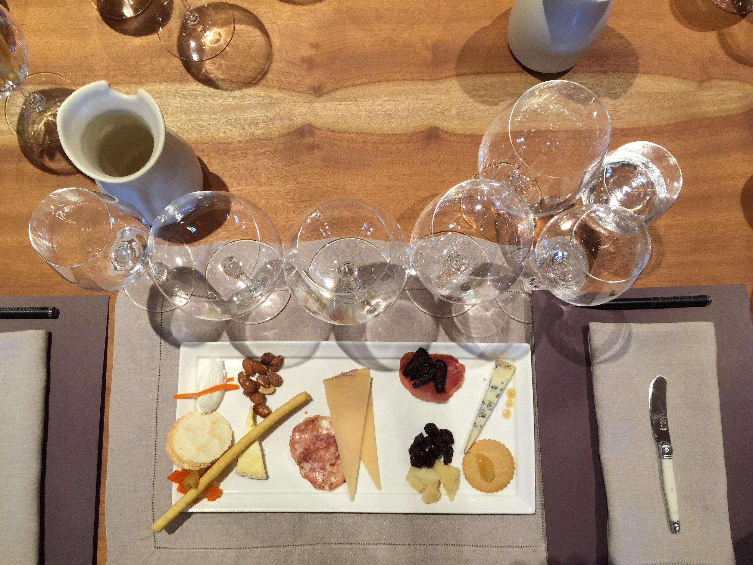 The wines were paired with the perfect selection of cheeses.