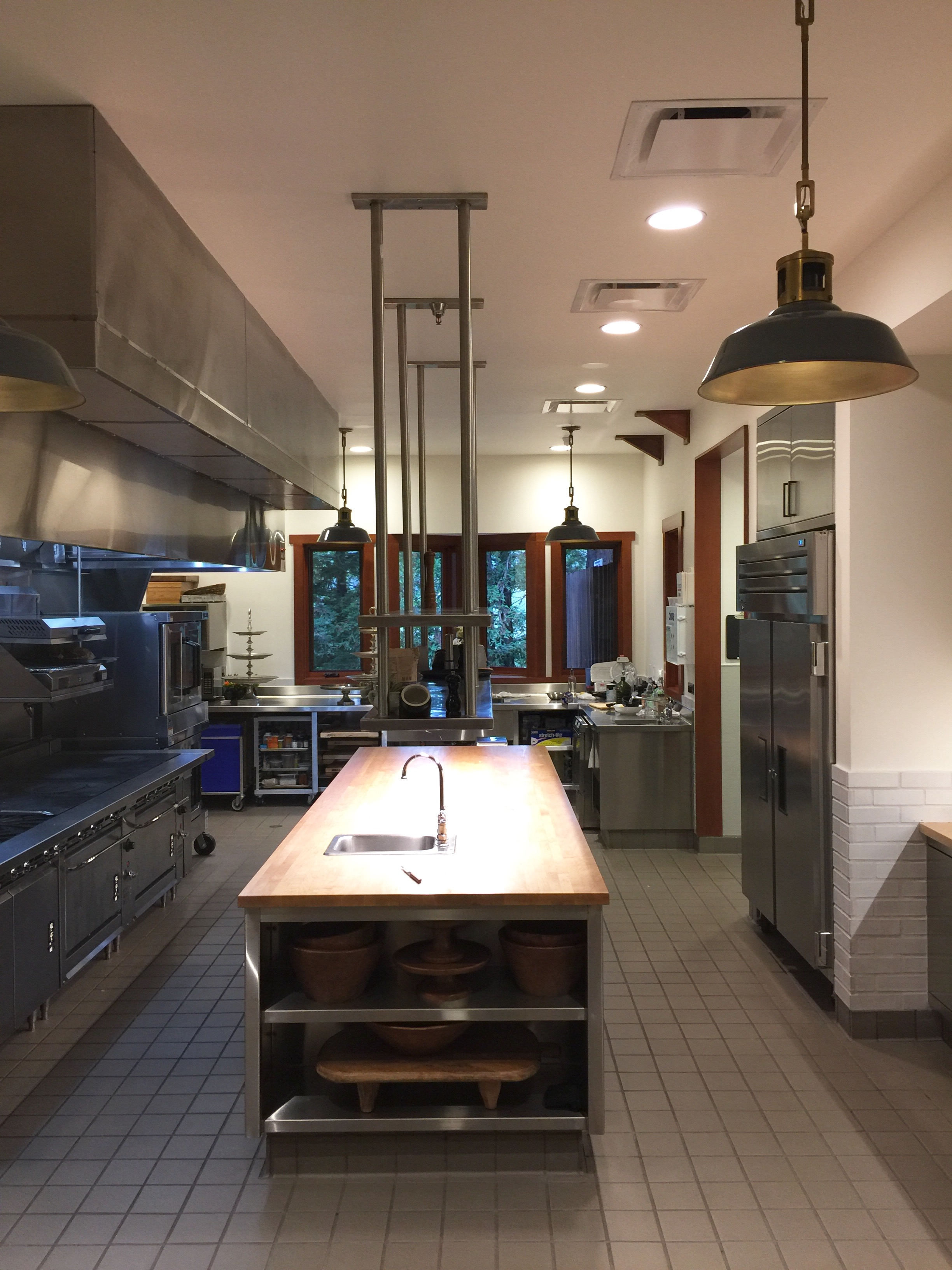 Professional kitchen for catering at Joseph Phelps