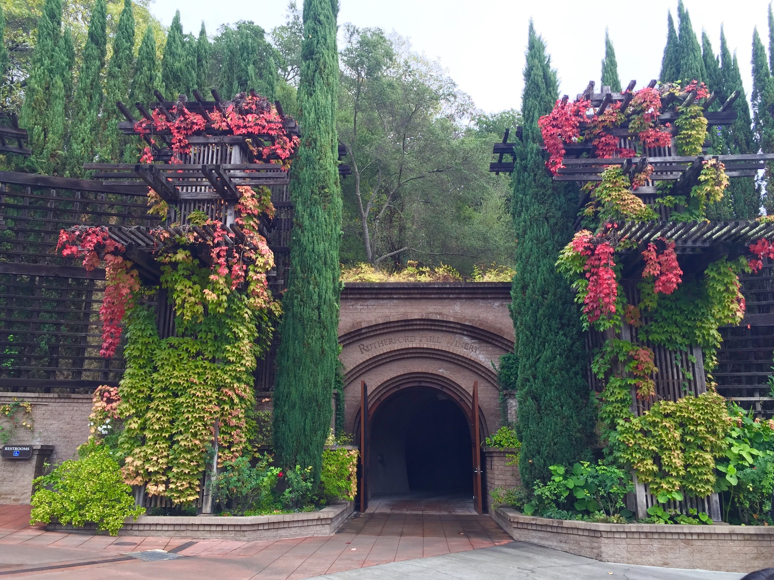 Entrance to the caves at Rutherford Hill Winery