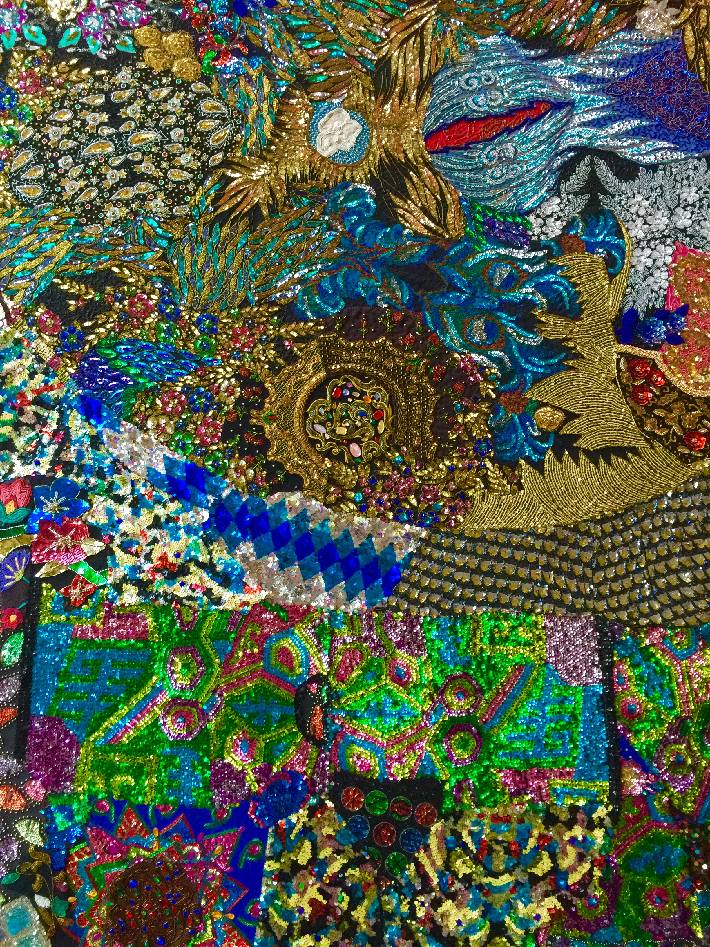 Detail of art piece at Hall Wines. Artist, Nick Cave.