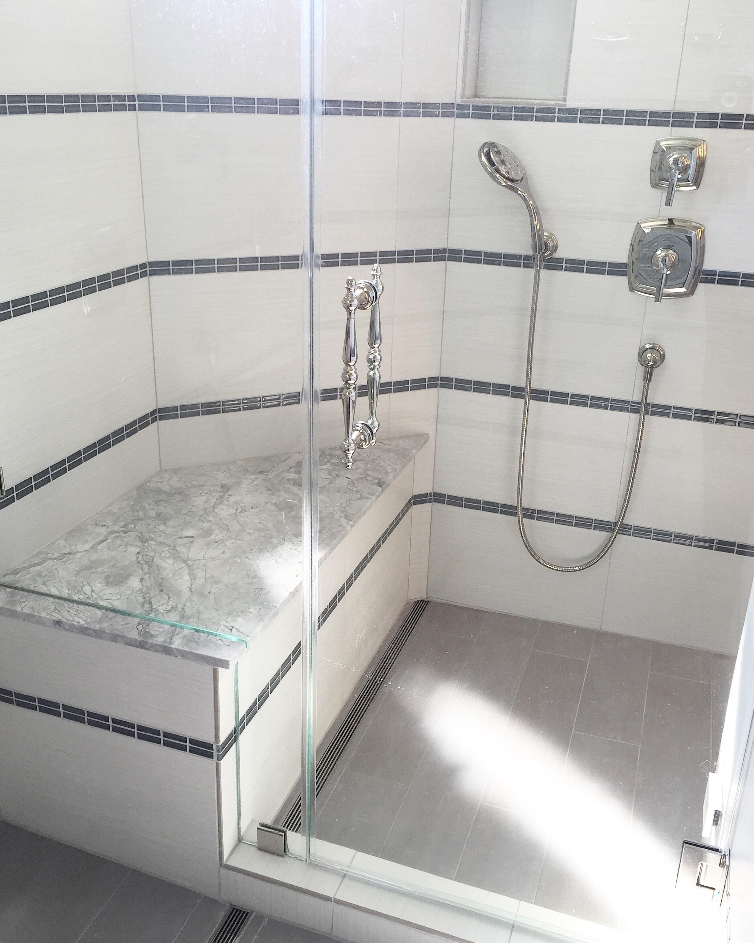 Steam shower designed by Carla Aston
