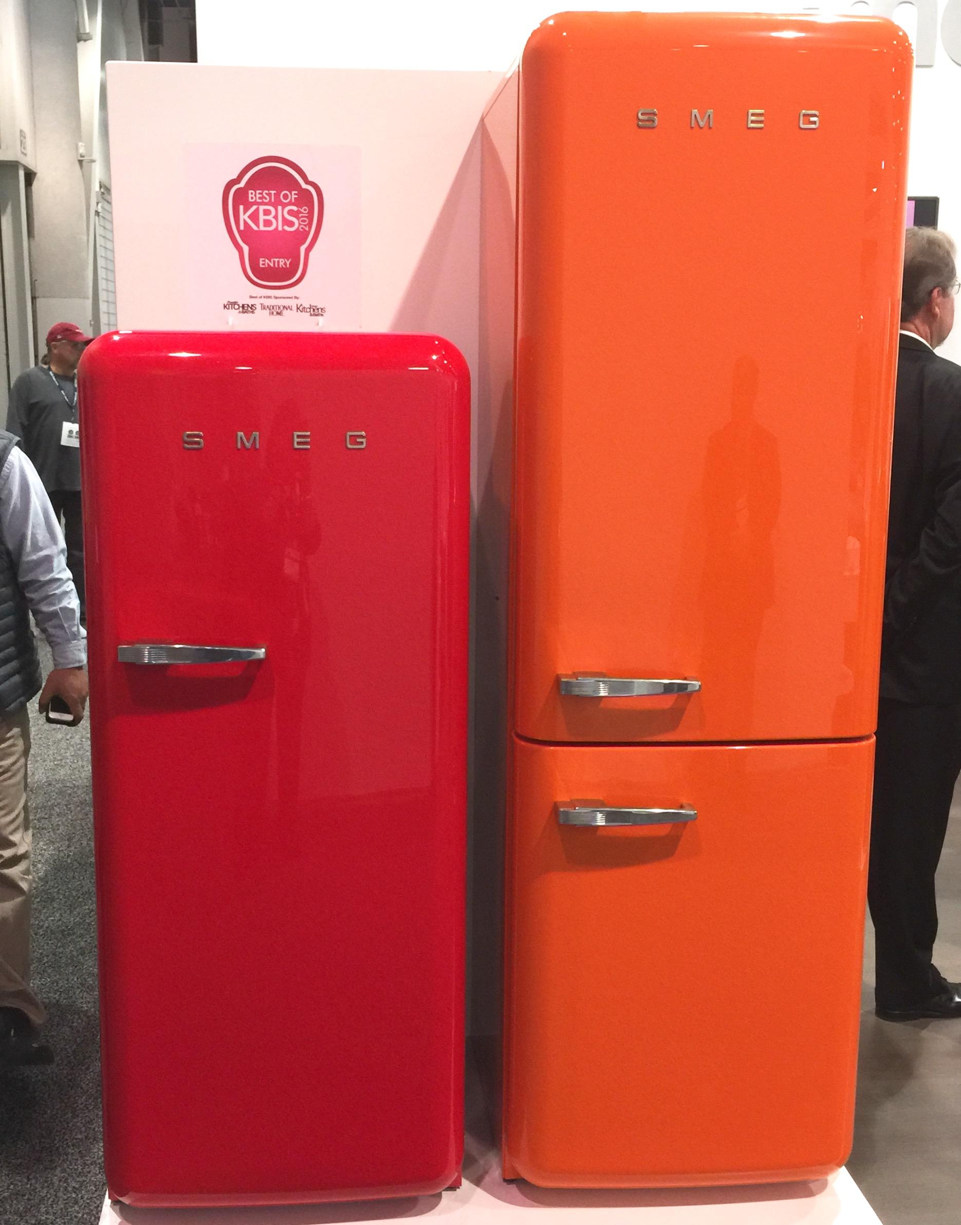Cute little Smeg refrigerators seen at KBIS 2016