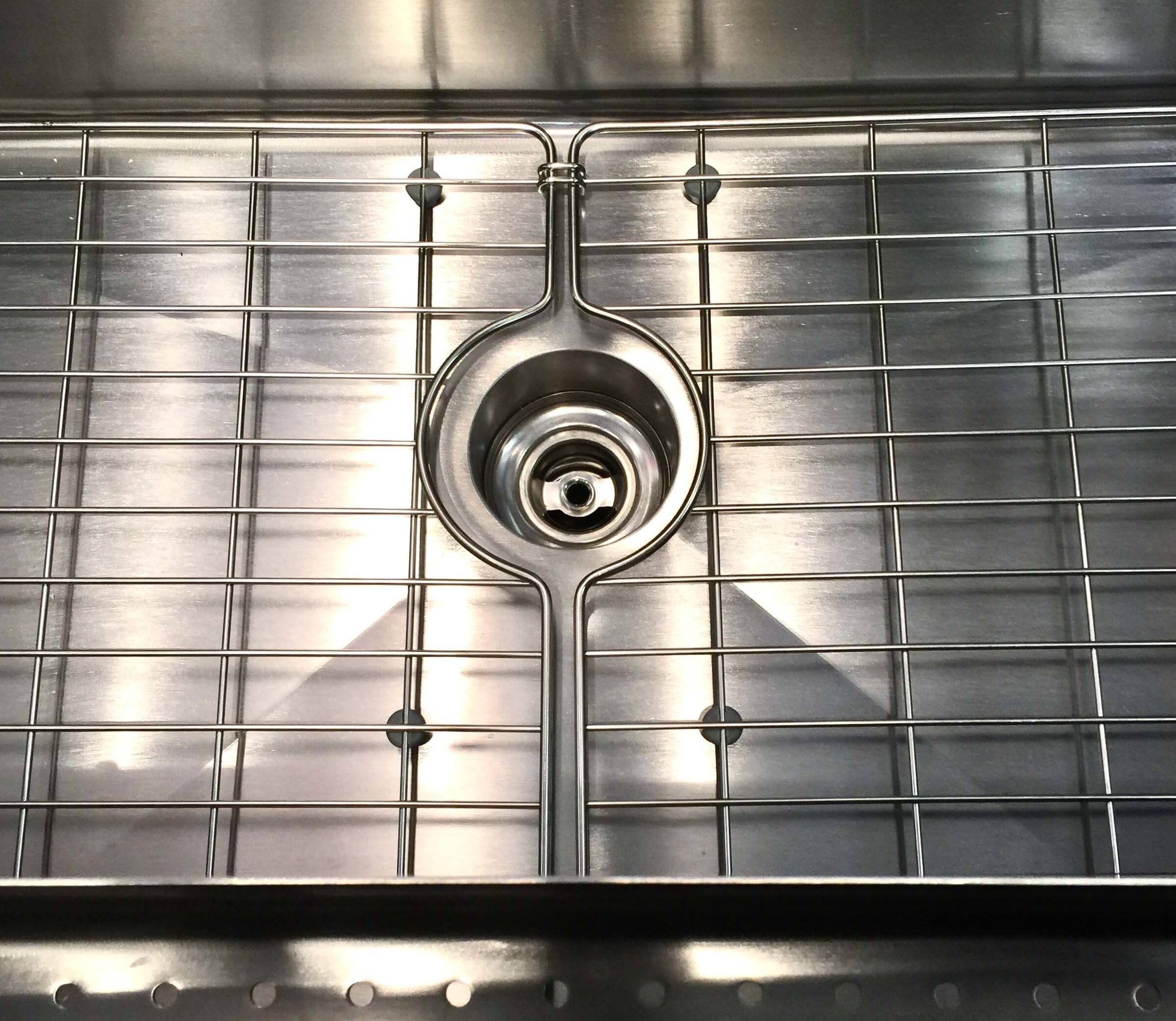 Elkay stainless steel sink with deep drain