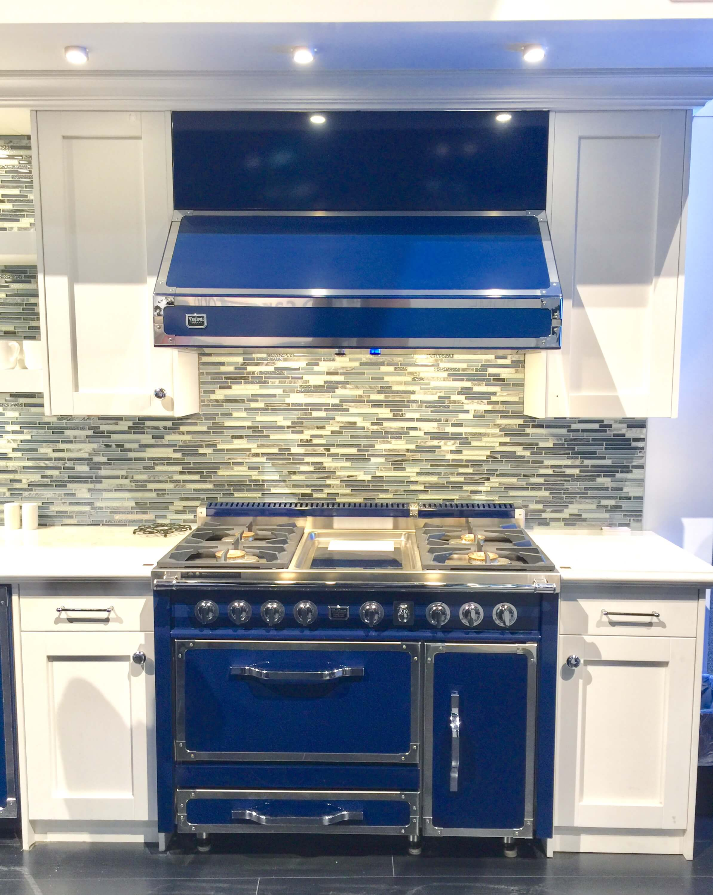 Blue Viking Range and Hood