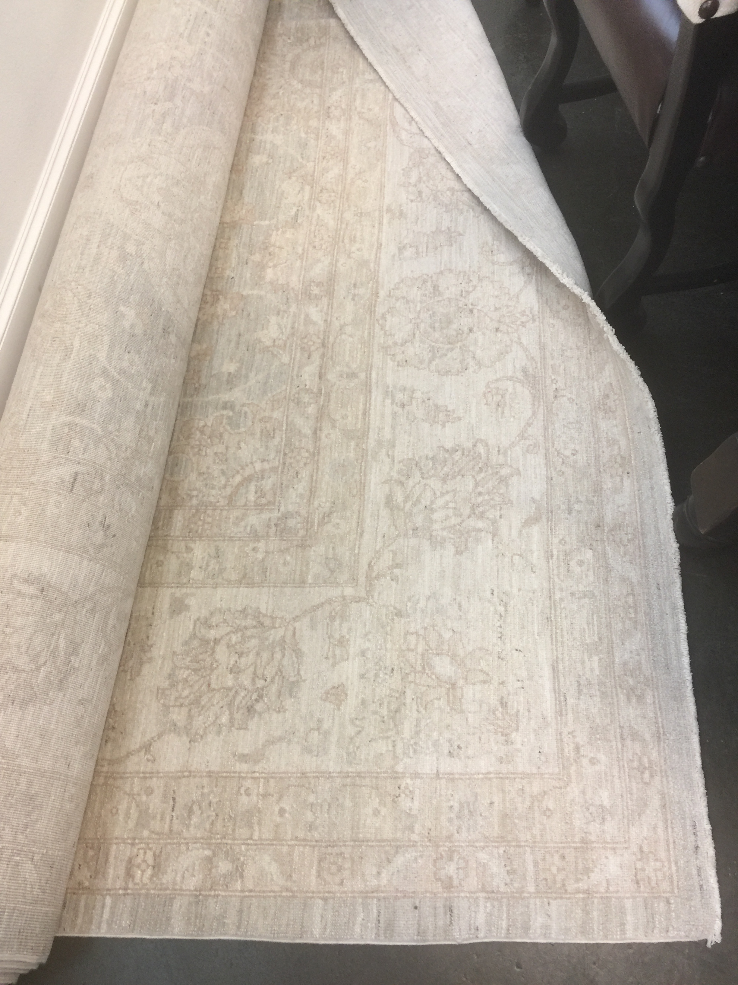 FOR SALE - 10 x 14 wool neutral Oushak rug