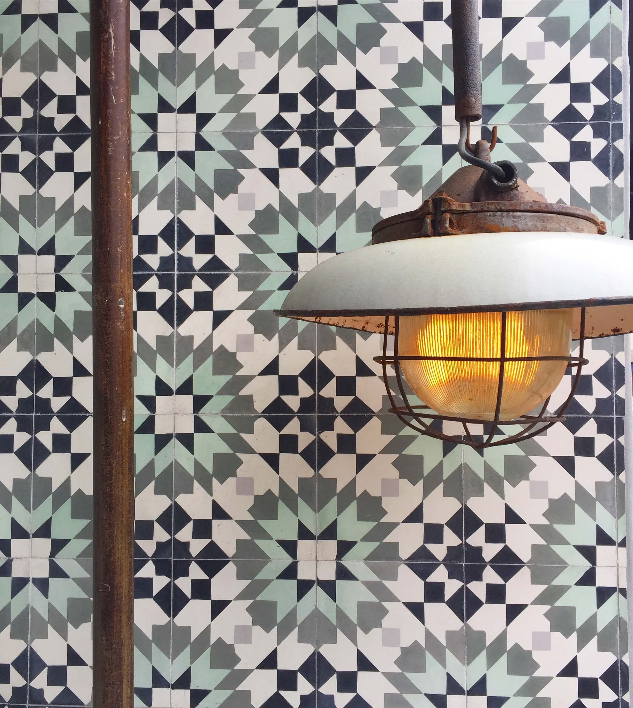 Graphic tile inspiration from shopping Venice's Abbott-Kinney Road