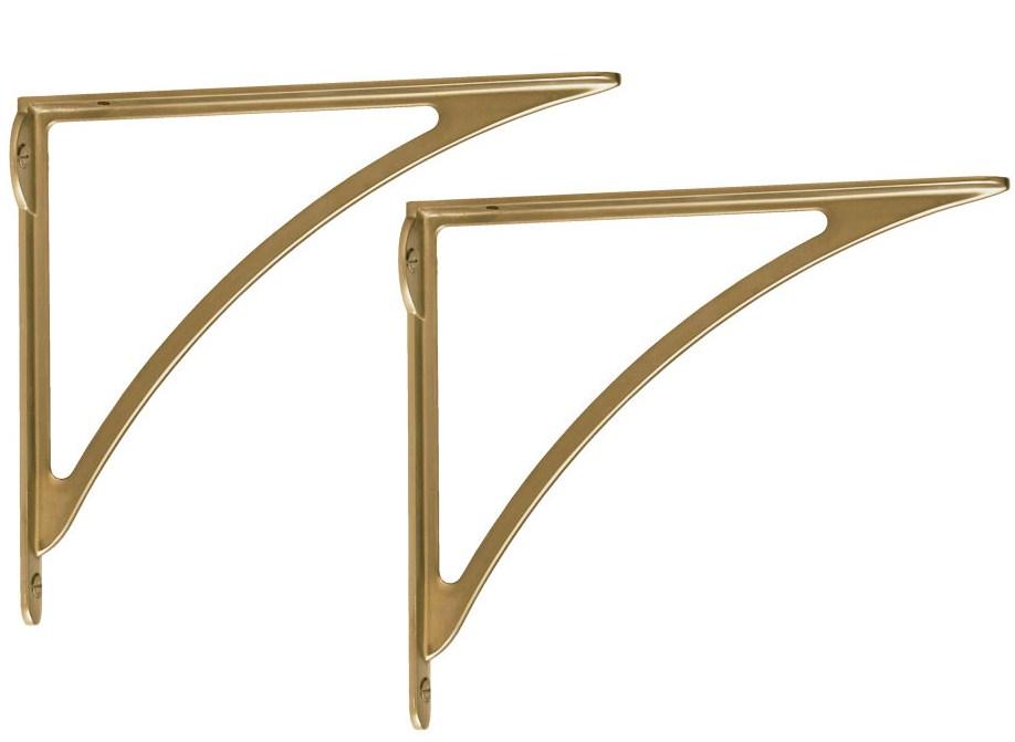 Brass shelf brackets