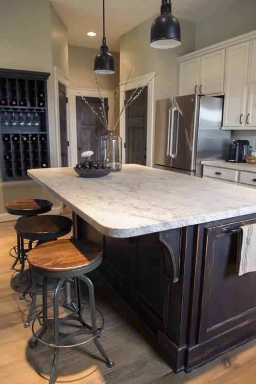 Honed granite countertops - Carla Aston Designer, Tori Aston Photographer