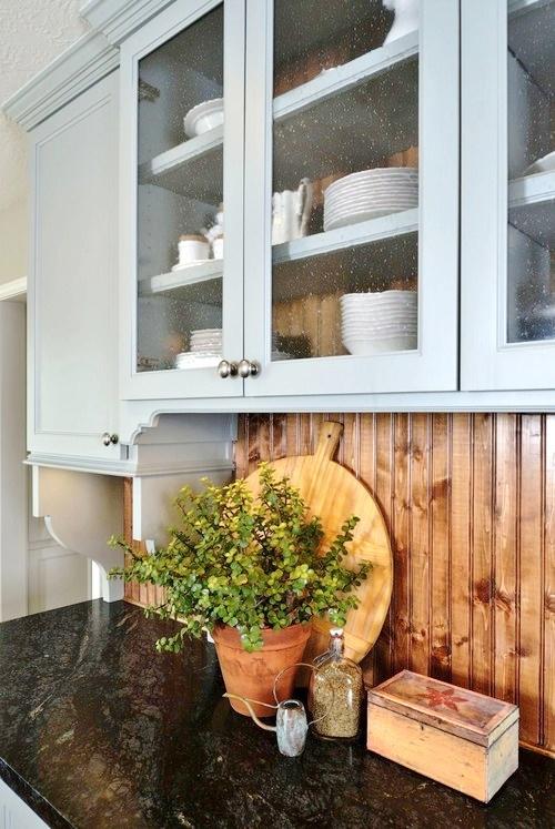 Country / farmhouse kitchen with soapstone countertops - Carla Aston designer, Miro Dvorscak photographer