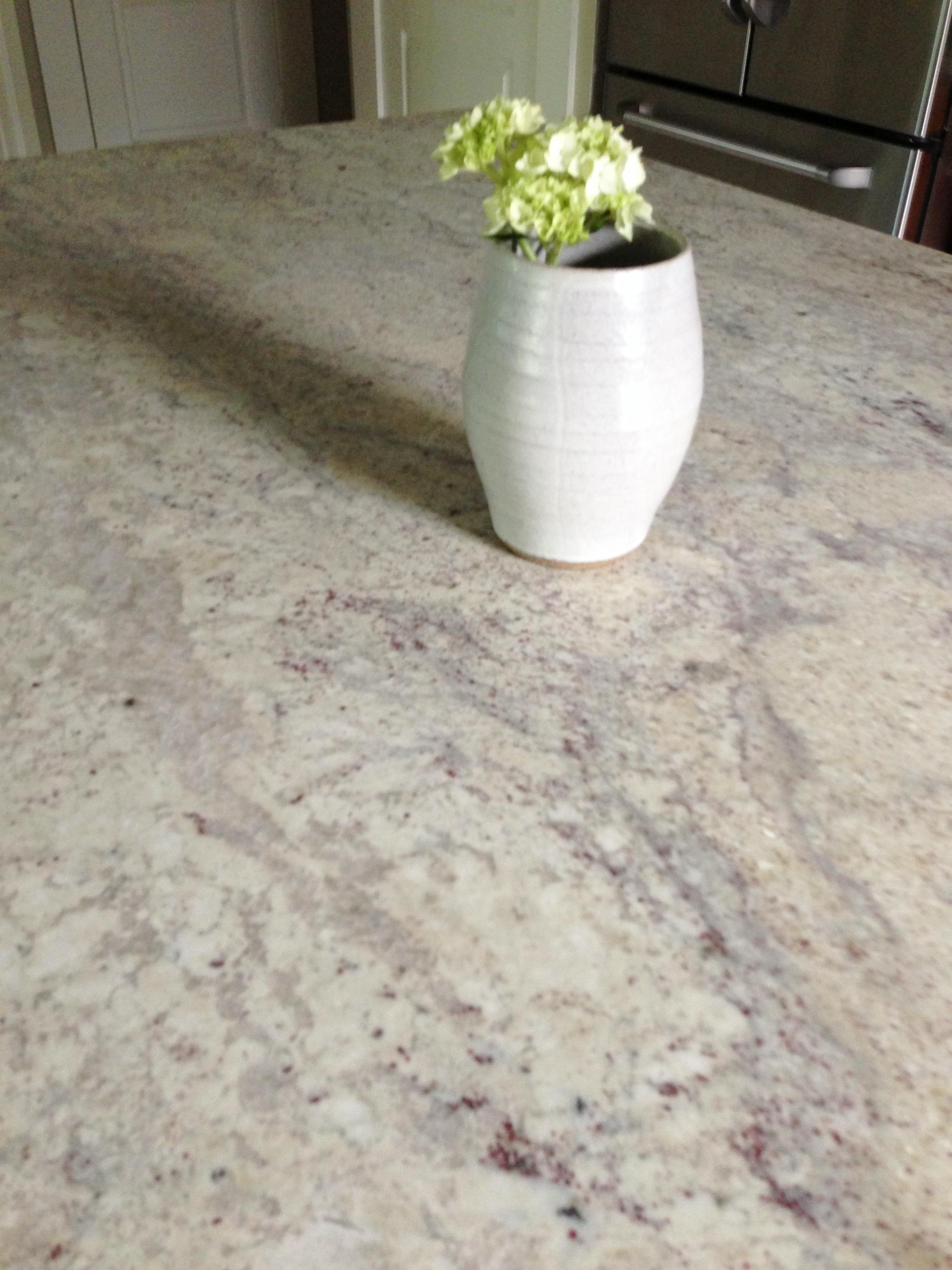 Close up of honed granite countertop