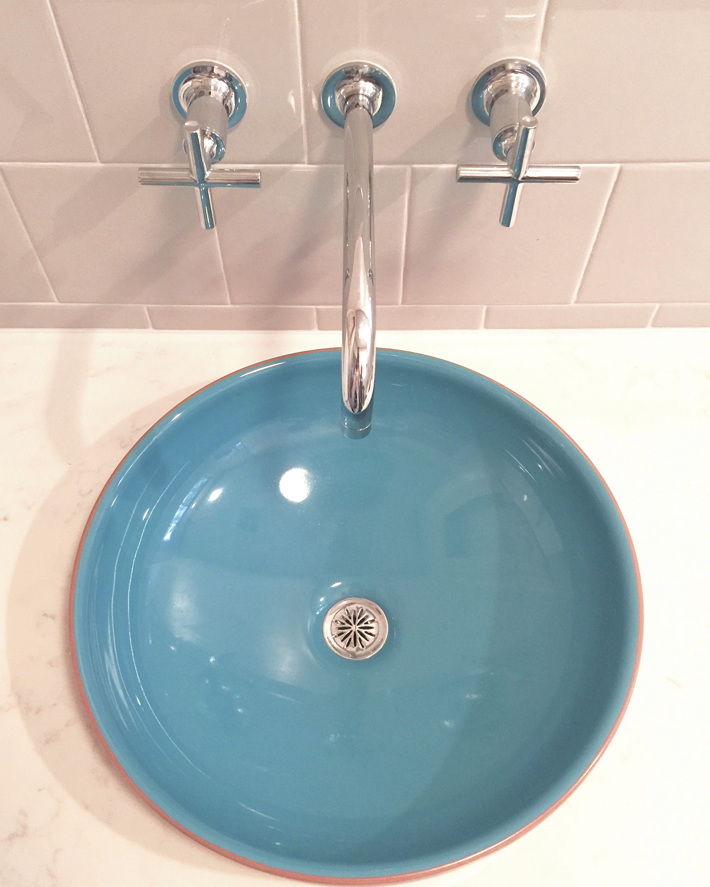 6x6 ceramic tile in modern bathroom