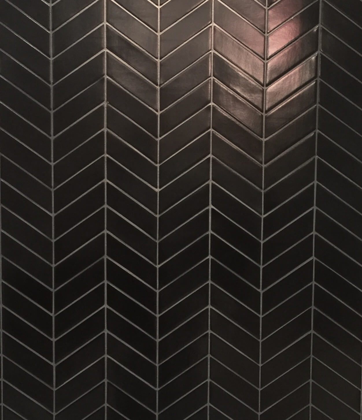 chevron shape ceramic tile