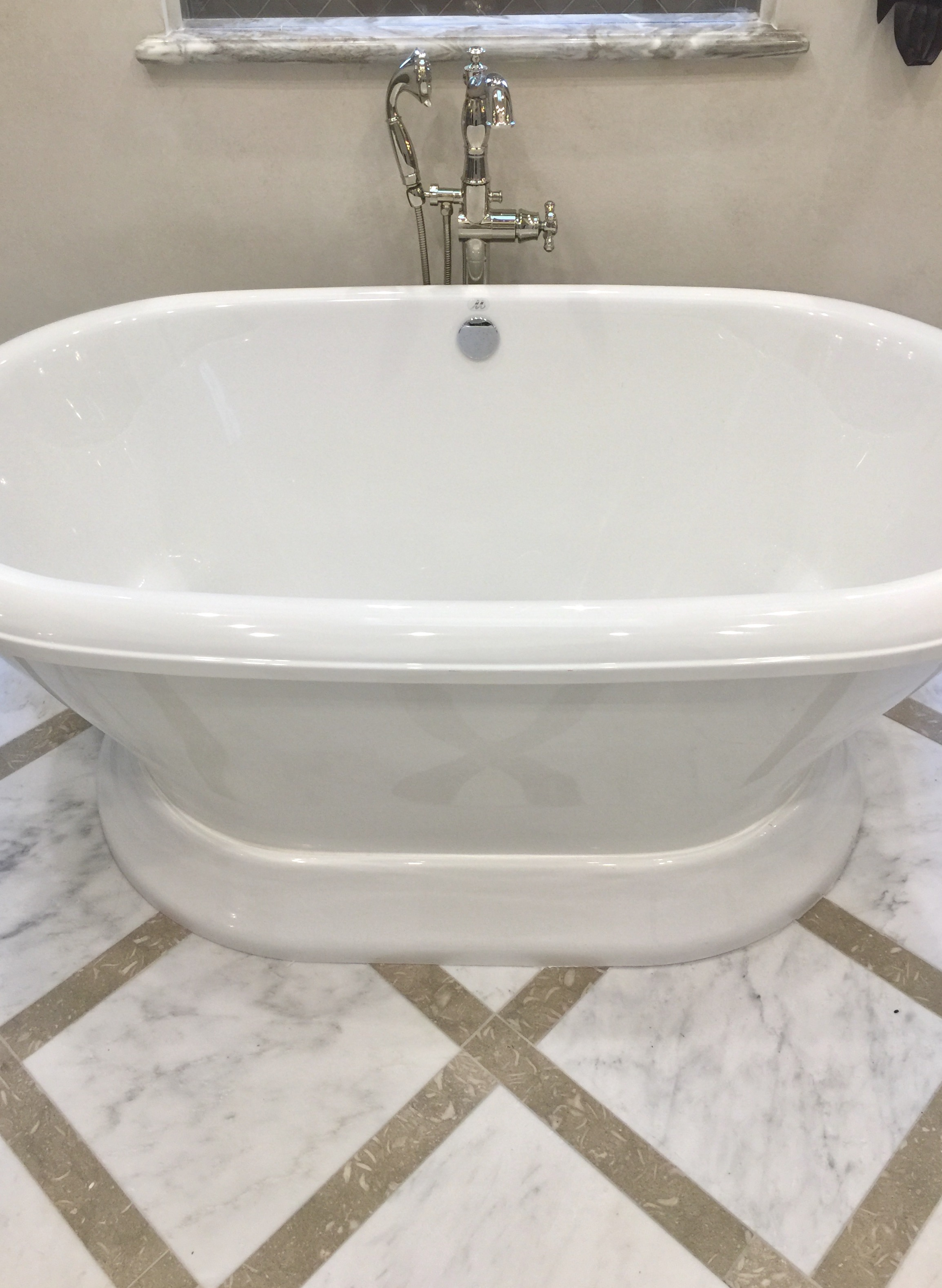 Master bath designed by Donna Vining