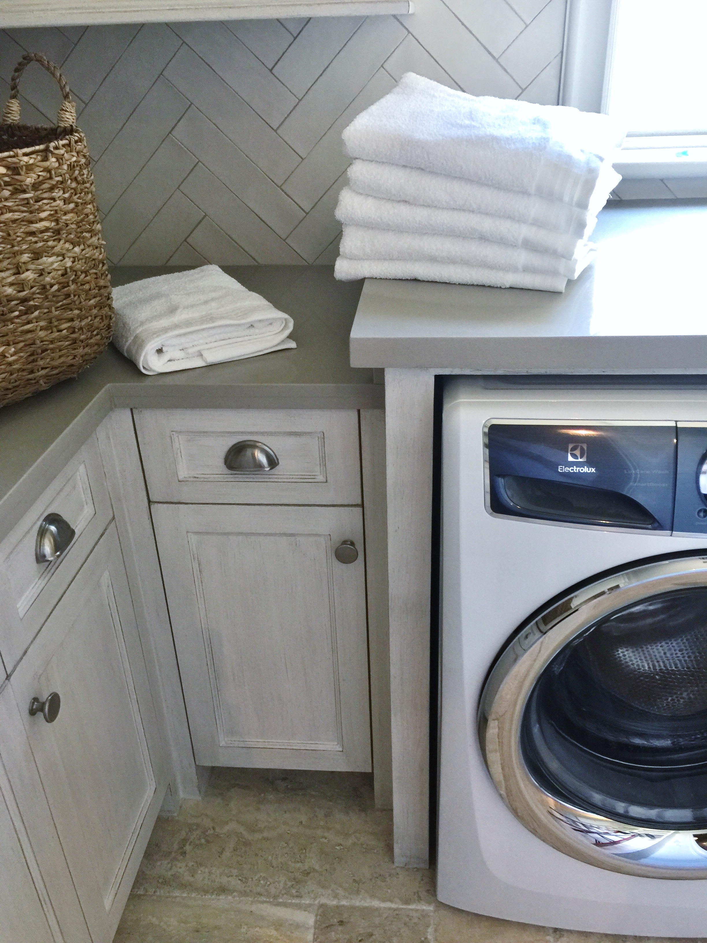 Laundry room designed by Andrea Lagow