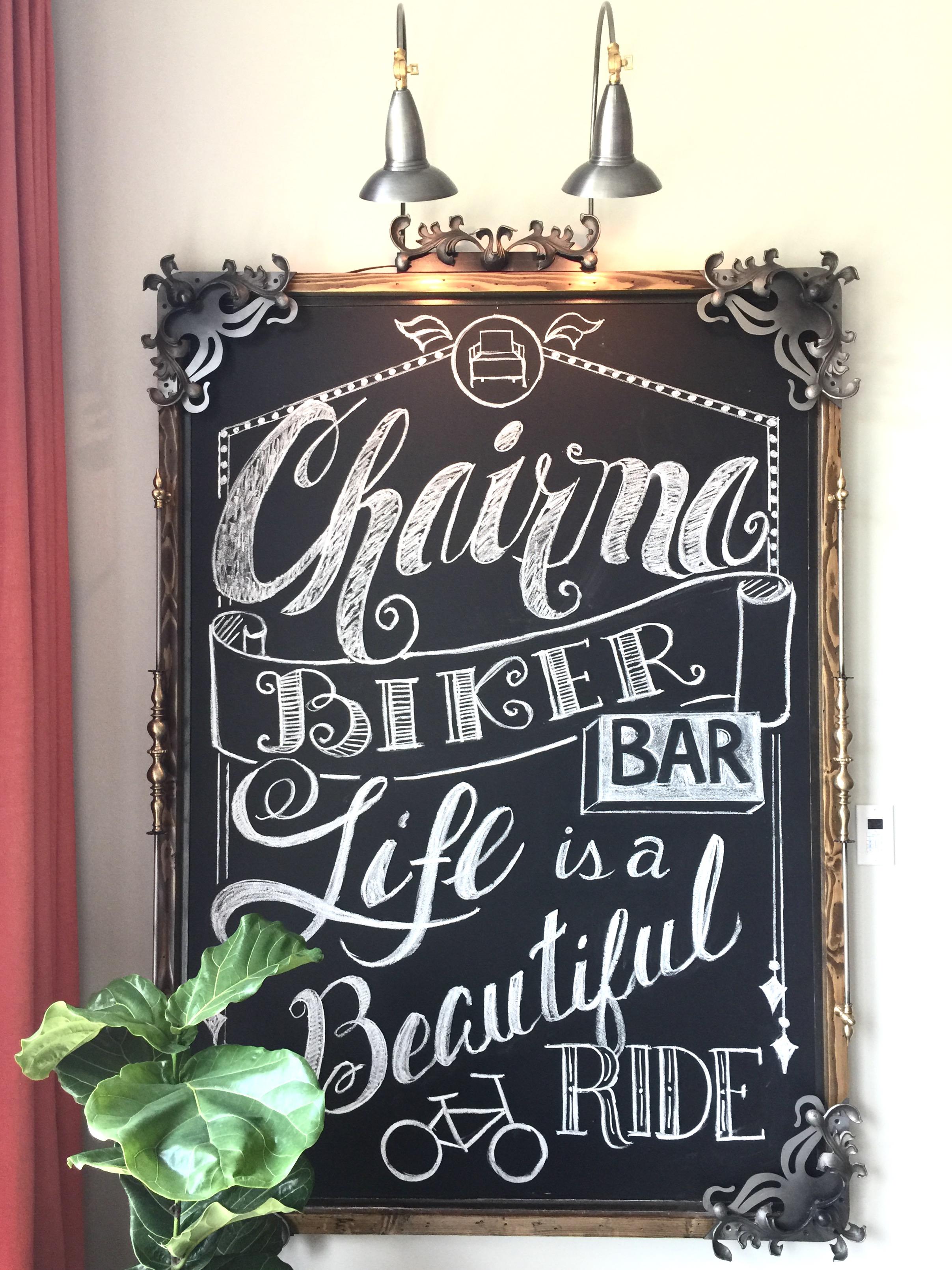 Custom Chalkboard - Designed by Chairma Design Group, Chalk Artist - Sarita Ackerman