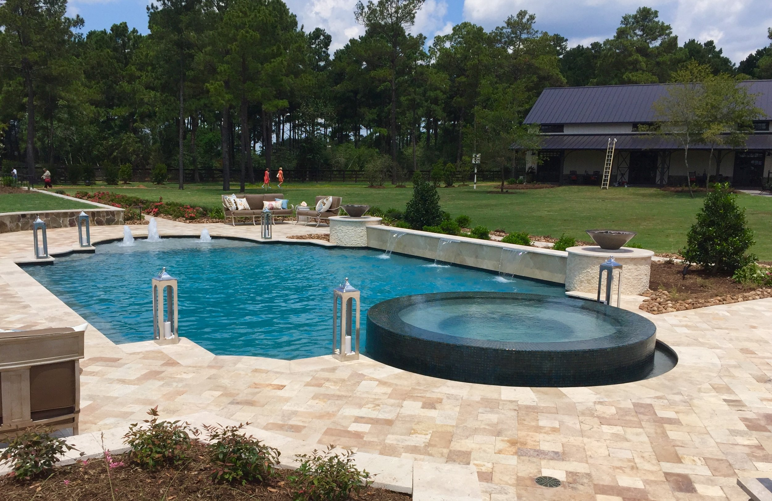 Pool and outdoor grounds designed by Smelek Design