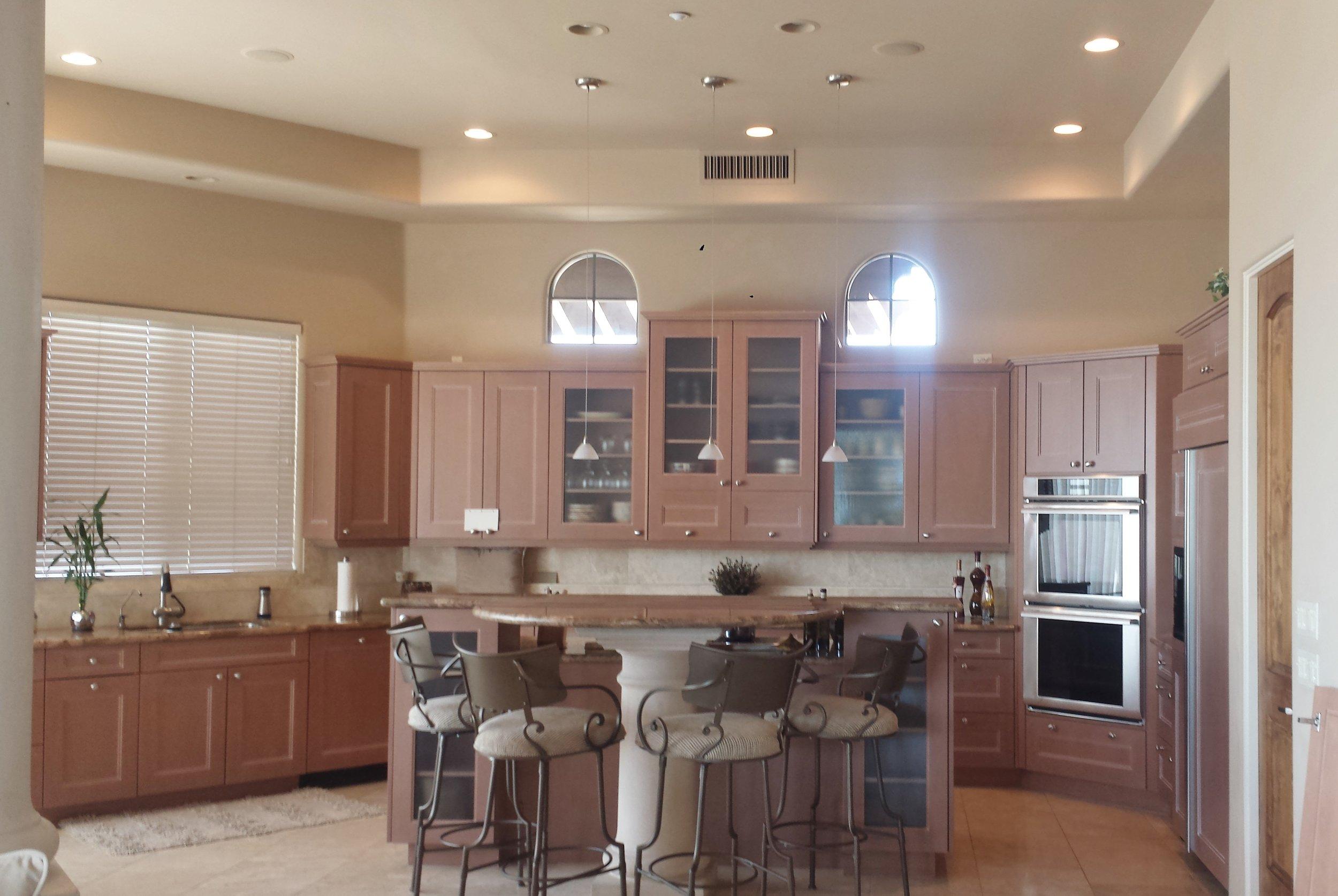 Before Kitchen Remodel - Beige, beige, beige